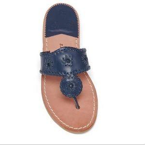 Jack Rogers Navajo Sandals Navy Blue 8